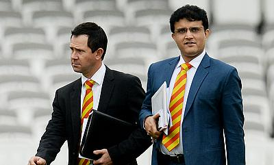 Former Indian captain Sourav Ganguly joins cricket all stars