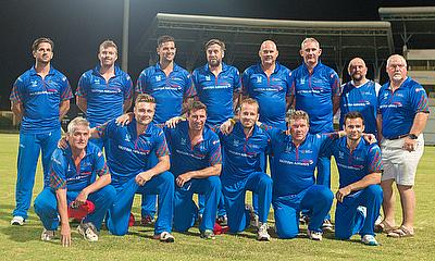 The Lord's Taverners team lined up ahead of the T20 match