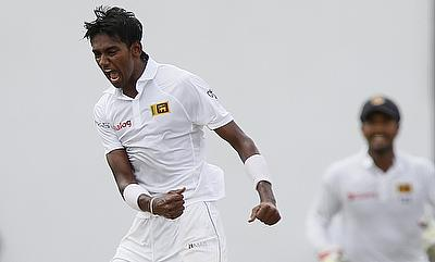 Dushmantha Chameera registered figures of three for 52 for Sri Lanka on day two of the tour game against New Zealand Board President's XI.