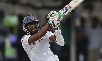 Dinesh Chandimal scored an unbeaten 83 for Sri Lanka one day one of the first Test against New Zealand in Dunedin.