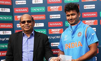 Rishabh Pant (right) scored a 24-ball 78 for India against Ireland.