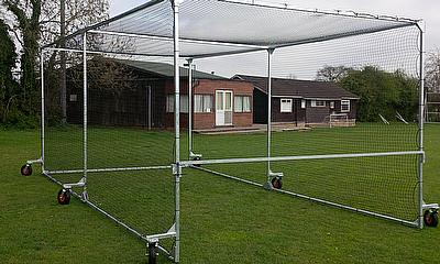 The Durant Pro Mobile Cage - this is the 7.12m version ready for use
