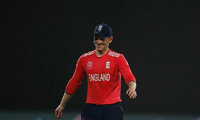 Eoin Morgan looks relaxed after the win against Sri Lanka in the World T20.