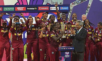 West Indies lift the ICC Women's World T20 trophy