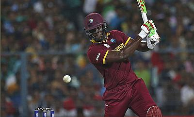 Carlos Brathwaite blasted four sixes in four balls at the death to confirm victory