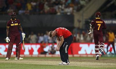 Ben Stokes reacts as West Indies win the WT20