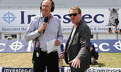 Phil Tufnell (right), pictured here with Jonathan Agnew