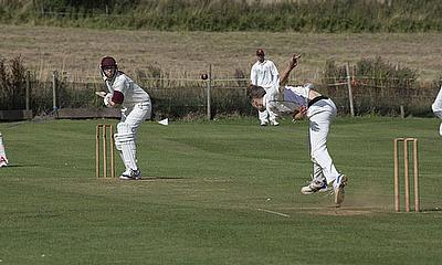 Mark Metcalfe in action (taking strike) for Haxey