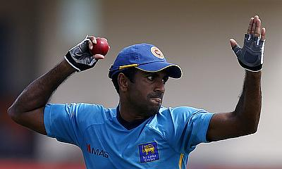Dhammika Prasad picked two wickets in the first innings against Essex in the tour game.