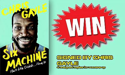 Win a signed copy of 'Six Machine' by Chris Gayle