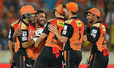 Sunrisers Hyderabad held their nerve to complete a eight-run victory in the final.