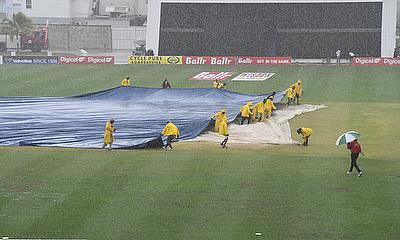 Only one over of play was possible in Barbados on Sunday.
