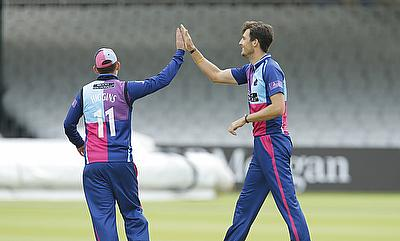 Steven Finn (right) played a leading role as Middlesex beat Somerset
