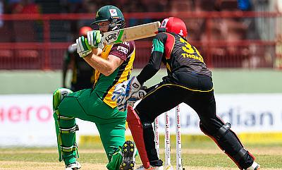Martin Guptill (left) scored 43 off 22 deliveries.