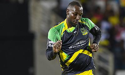 Kesrick Williams picked three wickets in the ninth over of the innings.