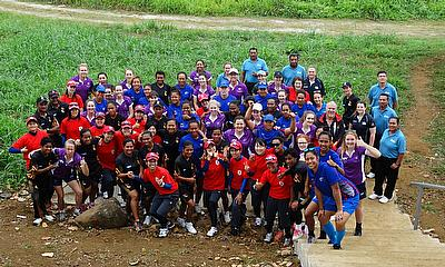 All three teams combine for a photo in Apia, Samoa