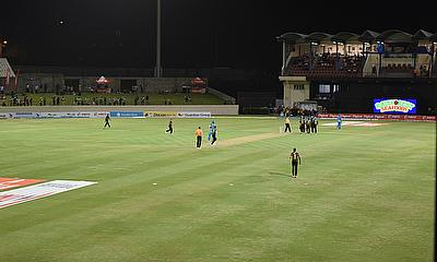 St Lucia Zouks taking on St Kitts & Nevis Patriots on their home ground
