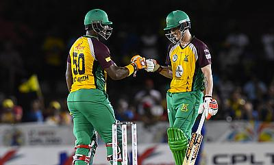 Dwayne Smith (left) and Nic Maddinson (right) added 92-run opening stand after the bowlers restricted Barbados to 142.