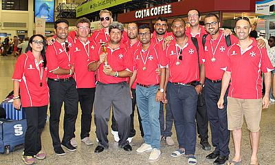 The Malta team at the airport prior to departure