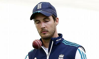 Steven Finn in training ahead of the third Test at Edgbaston.