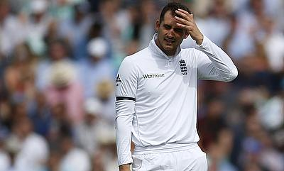 A dejected Alex Hales walks back after given out.