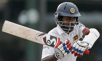 Kaushal Silva scored a century despite batting with stitches on his hand.