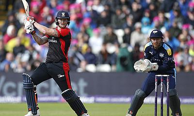 Ben Stokes hit quick runs to help Durham score 156 for six