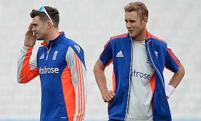 Stuart Broad (right) and James Anderson (left) are rested keeping in mind the sub-continental tours in mind.