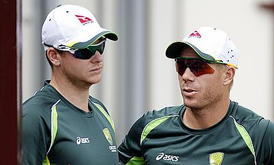David Warner (right) will lead Australia in the absence of Steven Smith (right)