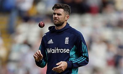 James Anderson bowled a lengthy spell in Loughborough before joining the squad in India