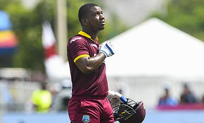 Evin Lewis scored 148 runs off 122 deliveries