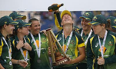ICC Women's Championship trophy presented to Australia