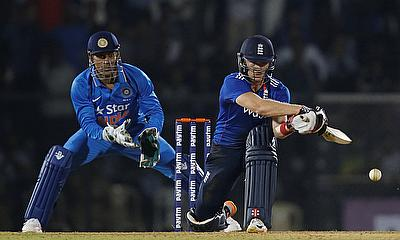 Sam Billings (right) in action during the tour game in Mumbai