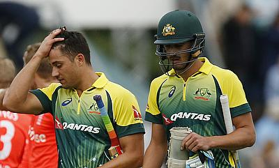 Marcus Stoinis (left) almost pulled out an impossible chase for Australia