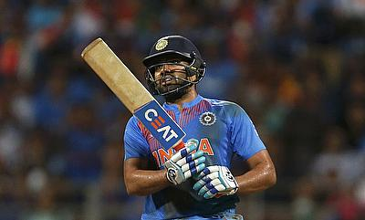 Rohit Sharma was unhappy after given out LBW