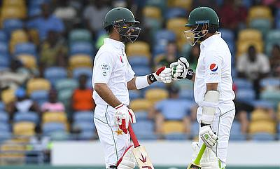 Ahmed Shehzad (left) and Azhar Ali laid a solid foundation to Pakistan innings