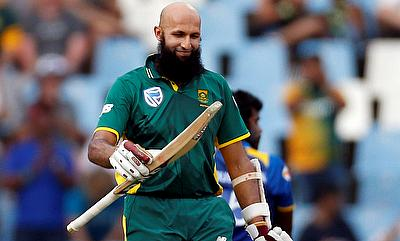 Hashim Amla scored his second century this season