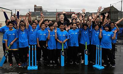 Heather Knight visited Hague Primary School in East London to inspire young girls and boys