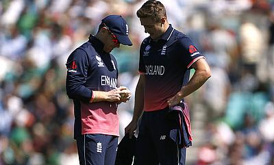 Chris Woakes (left) bowled just two overs in the game against Bangladesh