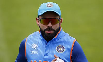 Virat Kohli in a practice session at The Oval