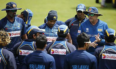 Sri Lanka during a practice session ahead of the game against Pakistan