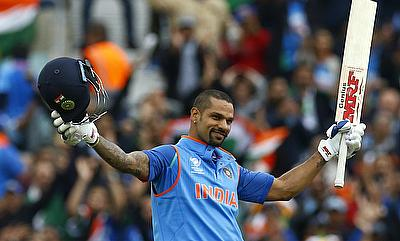 Shikhar Dhawan became the fastest to 1000 Champions Trophy runs