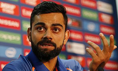 Virat Kohli in a press conference ahead of the final against Pakistan
