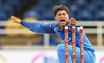 Kuldeep Yadav picked a three wicket haul