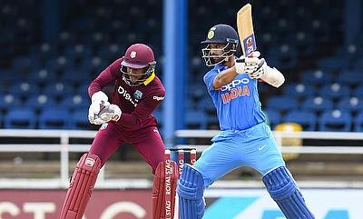 Ajinkya Rahane (right) has been in top form in the ODI series against West Indies