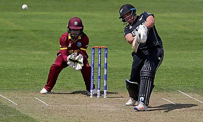 Rachel Priest (right) in action against West Indies