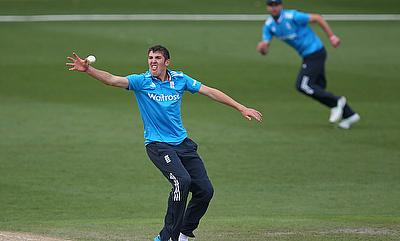 Craig Overton (left) picked nine wickets in the game