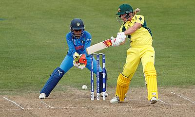 Meg Lanning (right) scored an unbeaten 76 run knock against India