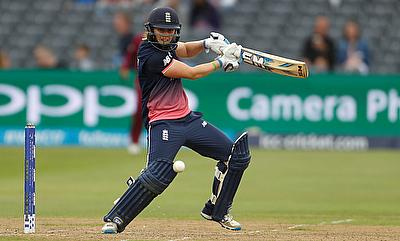 Heather Knight led from the front for England against West Indies