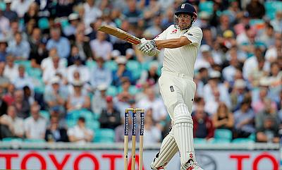 Alastair Cook in action on day one at The Oval